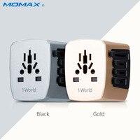 Momax新しいautomaxユニバーサルトラベルアダプター電気プラグソケットコンバータ米国/au/uk/eu 4 usb充電4.5a過電流を保護