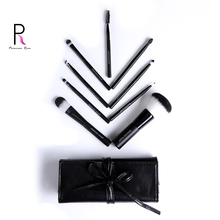 Makeup Brushes 9 pcs BLACK brush set High Quality Soft Taklon Hair double color Professional Artist Brush Tool Kit