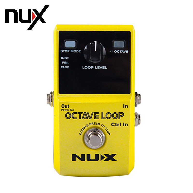 NUX Octave Loop Looper Pedal -1 Octave Effect Infinite Layers with Bass-Line True Bypass 3 Modes Guitar Single Block Effector nux octave loop guitar pedal looper 5 minutes recording time electric bass built in octave effect accessories