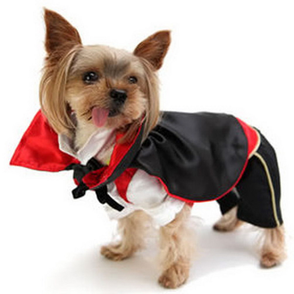 2017 Small Dog/Cat Novel Design Vampire Halloween Party Costume Monster Cape Pet Holiday Clothes