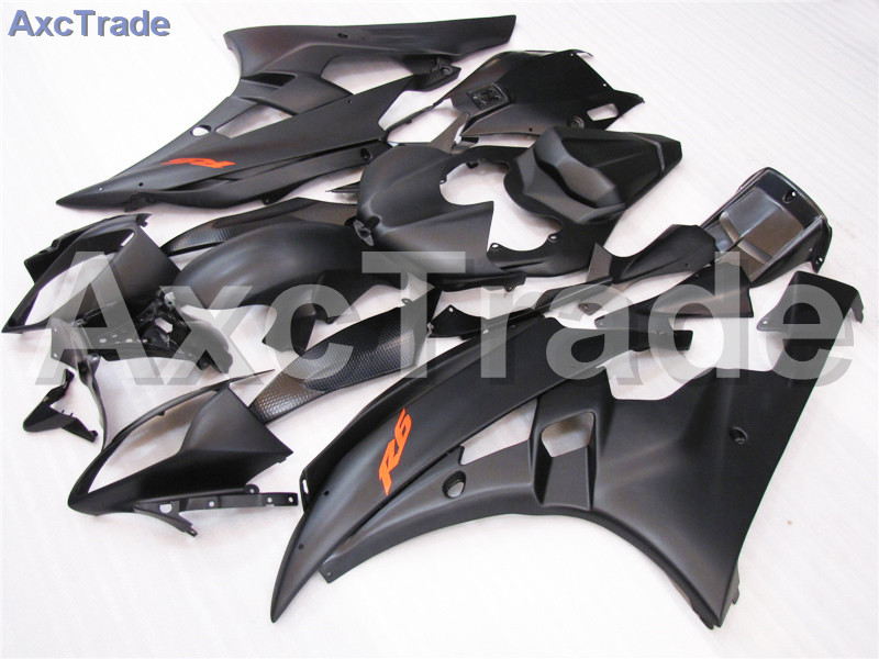 Motorcycle Fairings Kits For Yamaha YZF600 YZF 600 R6 YZF-R6 2006 2007 06 07 ABS Injection Fairing Bodywork Kit Black A403 mfs motor motorcycle part front rear brake discs rotor for yamaha yzf r6 2003 2004 2005 yzfr6 03 04 05 gold