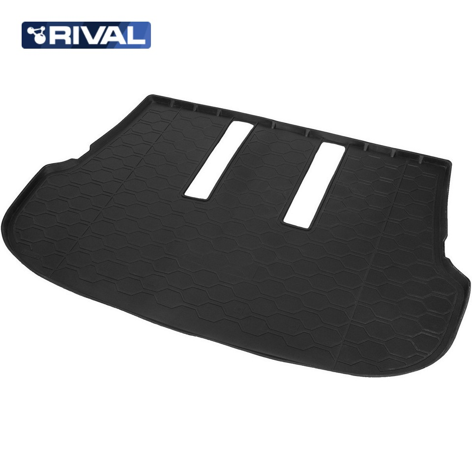 For Toyota Fortuner 2017-2019 trunk mat for cars with 7-seats saloon [Rival 15707003] for mitsubishi outlander 2013 2019 trunk mat for cars with organizer rival 14002003