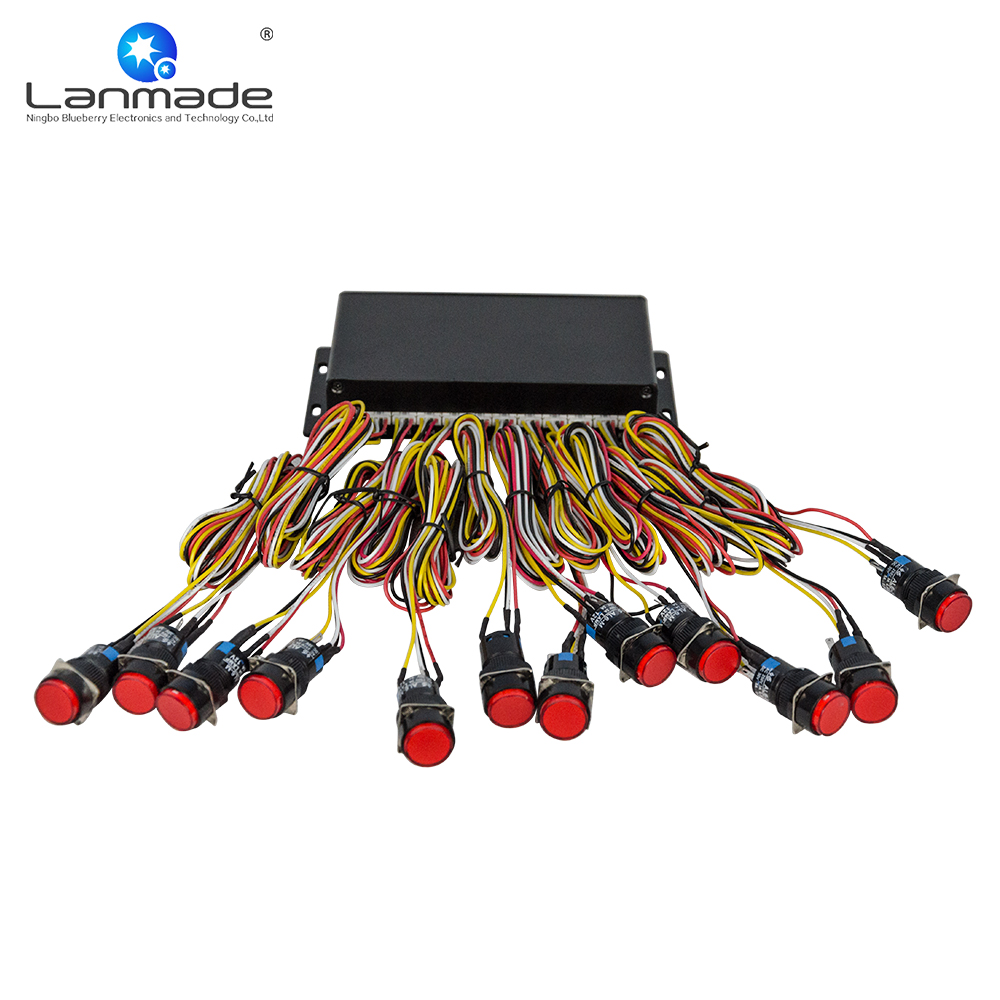 UP to 120pcs red plastic LED button RS232 expansion box indoor exhibition