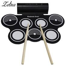 New Hot Portable Roll Up USB MIDI Machine Électronique Roll Up Batterie MD759 Jouets Cadeaux Percussion Instruments pour Mélomane
