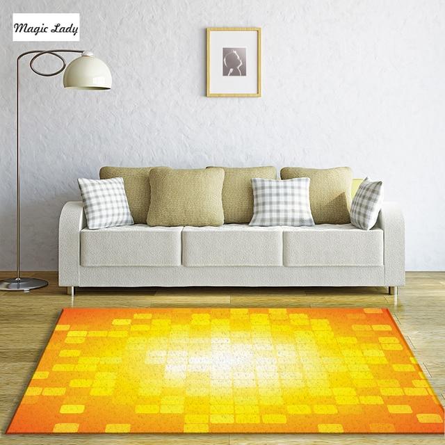 Teppiche Gardinen Wohnzimmer Schlafzimmer Mosaik Retro Quadrat