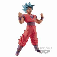 Original banpresto Dragonball Super Figure Blood of Saiyans Saiyan God Blue Son Goku PVC action figurine model figura