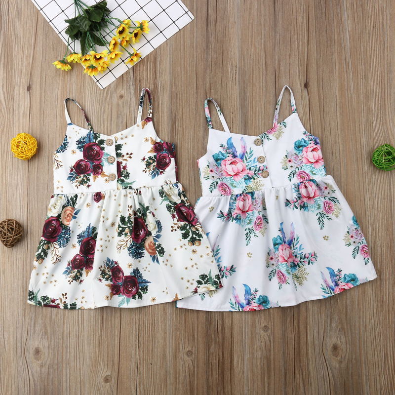 pudcoco Cute Flower Princess Sleeveless Dress Sundress