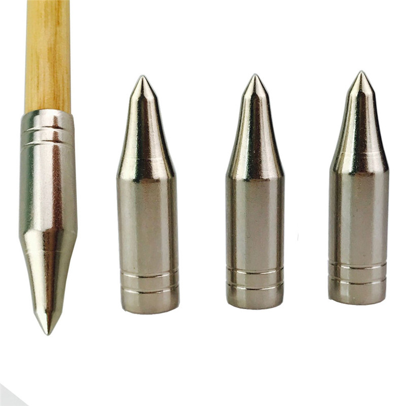 12pcs Archery Broadhead Field Points 5/16 75 grain Glue on Replacement Practice Arrow Tips for OD8mm Arrow Stainless Steel