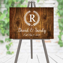 Wedding Welcome Sign Wedding Sign Wooden Welcome Sign Rustic Wedding Party Decor Custom Name and Date Guest Signature(China)