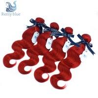 Remy Blue Red Indian Body Wave Hair Bundles Burgundy 1/4 PCS Human Hair Bundles Deals Double Welf Remy Hair Weave Extensions
