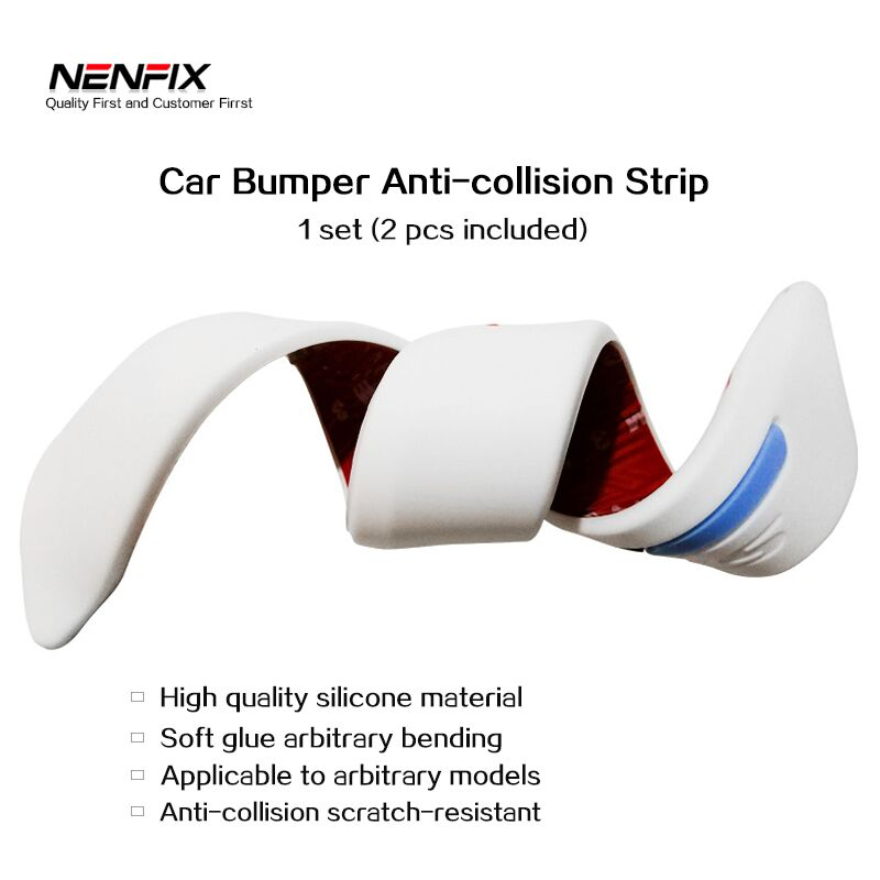 4pcs Auto Car Bumper Anti-collision Guard Protector Buffer Trim Molding Protection Strip Scratch bump Crash Bar Styling Moulding