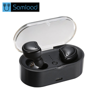 Samload Bluetooth Earphone Double Ear True Wireless Sport Stereo TWS Earbuds Headset With Mic Charging Box