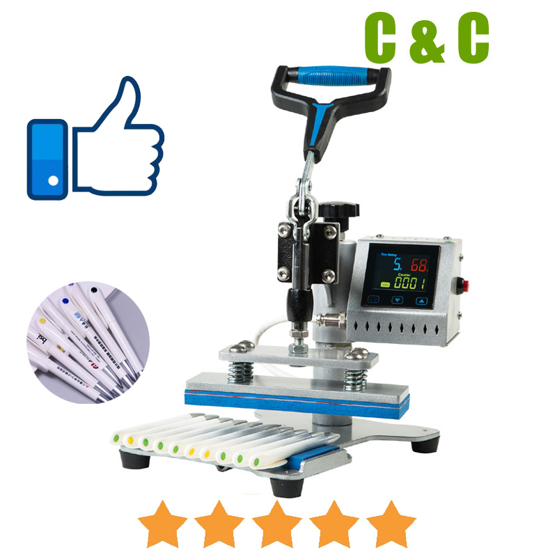 Pen Heat Press Machine 10 In1 DIY Transfer Pen Printing Ball Pen Heat Transfer Machine Pen Press Machine Printer With Free Gifts
