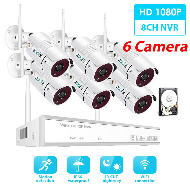 1080P 6 Camera 8CH