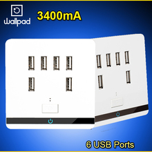 Power-Charger Wall-Socket Usb Outlet Wallpad 6-Port Smart Home EU AC AU UK for Cellphone