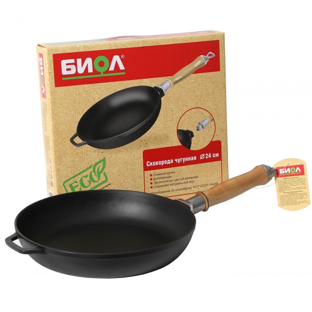 Frying pan cast iron with wooden hand  caucasian grill  coffee pot bowler pan frying pan mug 0120/22/24/26/28