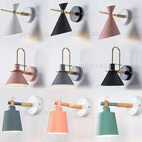 Modern Nordic Macaron series Wall Lamps creative living room bedroom study aisle bedside stairs A B C paragraph