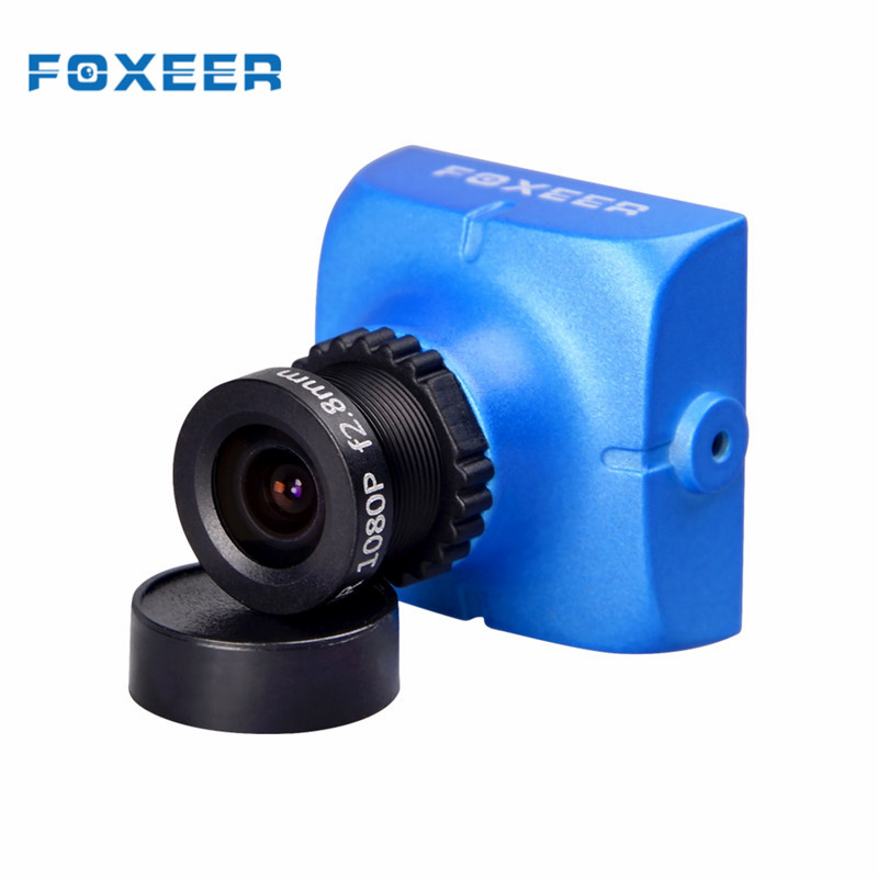 Original foxeer hs1177 V2 600tvl CCD 2.5mm/2.8mm NTSC ir bloqueado mini FPV Cámara 5-40 V W/soporte
