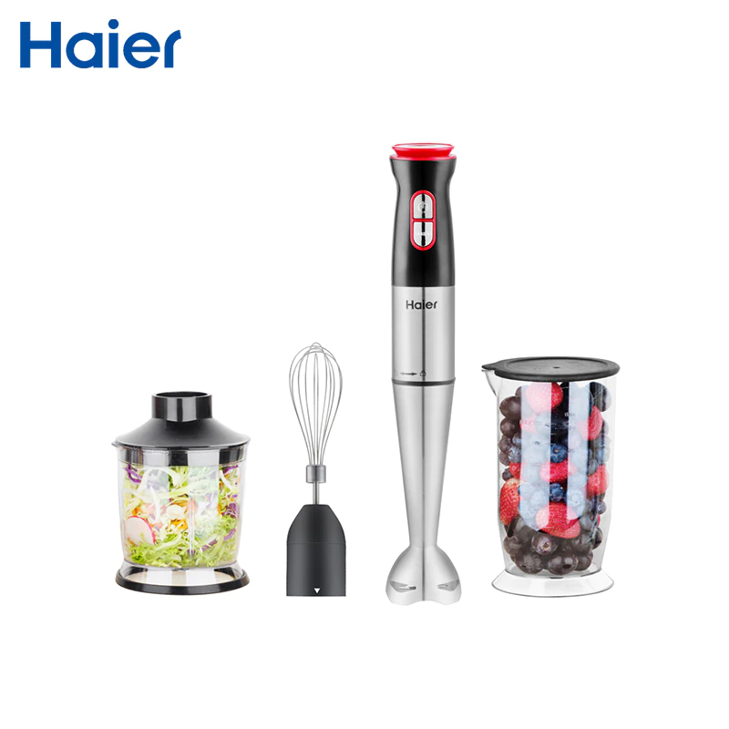 Hand blender Haier HHB-111 electric blender mixer grinder for kitchen Handheld Stainless Steel 12 speed ir 5409 mixer household mini handheld electric for whipping in a cup powered by 2 aa batteries