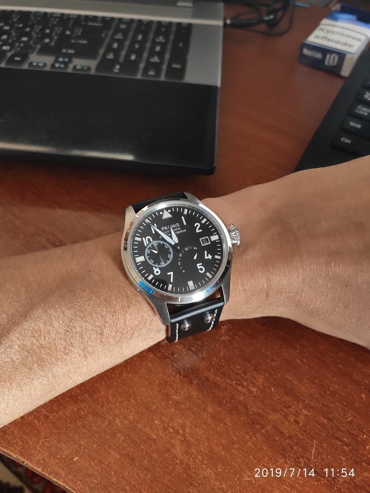 Relógios mecânicos parnis mostrador movimento