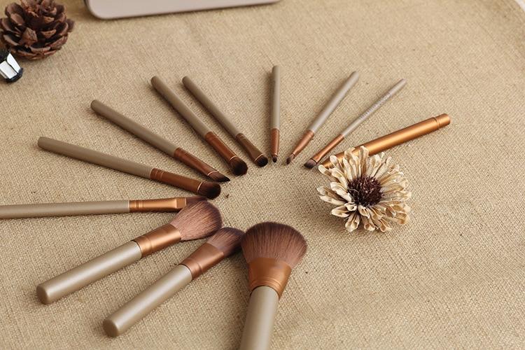 12Pcs Nake Brushes Cosmetics tools  Rose Gold