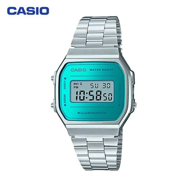Наручные часы Casio A-168WEM-2E мужские электронные на браслете