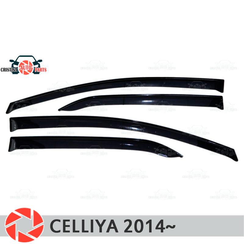 Window deflector for Lifan Celliya 2014~ rain deflector dirt protection car styling decoration accessories molding багажник на крышу lux lifan celliya 2014 1 1м аэродинамические дуги широкие 697792