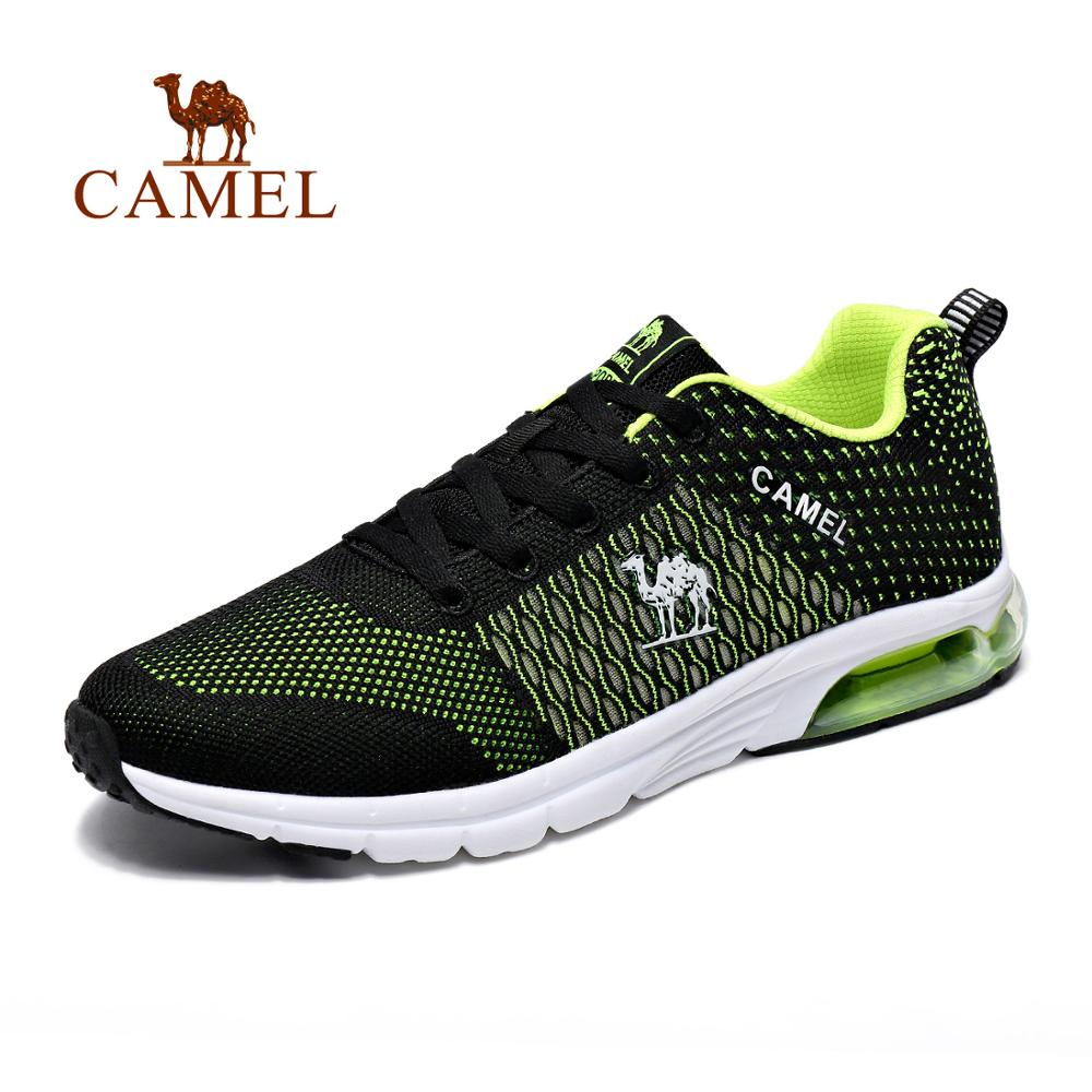 CAMEL Men Women Air Cushion Running Shoes Spring Summer Mesh Breathable Outdoor Jogging Walking Sneakers Sport Shoes