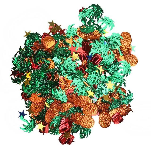 15g colorido fiesta decoración hawaiana Tropical piña Cocnut árbol pimienta verde confeti brillo fiesta Favor Decoración de mesa