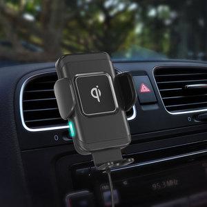 Image 3 - 15W הידוק אוטומטי אלחוטי מטען לרכב עבור iPhone עבור Samsung מהיר אלחוטי מטען לרכב עם טלפון מחזיק טעינה מהירה