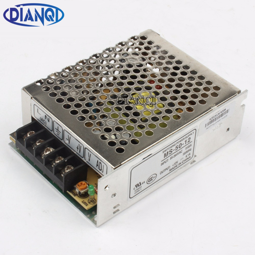 power supply 50W 12V 4.2A mini size power supply unit ac dc converter mini size ms-50-12 12v variable dc voltage regulator image