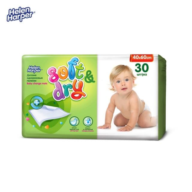 HELEN HARPER Детские впитывающие пеленки Soft&Dry 40х60 (30 шт.)