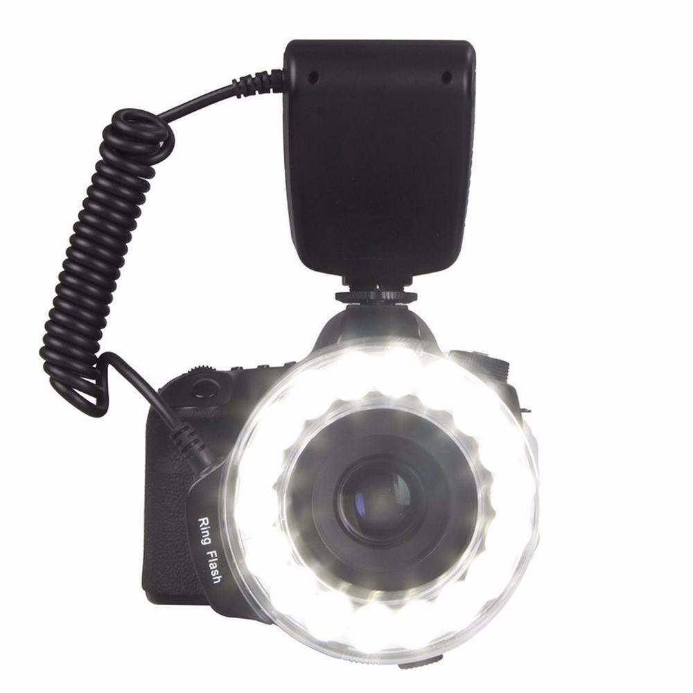 EACHSHOT RF-600D 18 LED Macro LED Ring Flash Versatile Lighting Macro Photography Flashes For Canon Nikon Sony Mi Hot Shoe DSLR wansen w48 4w 480lm 48 led makro macro ring lighting flash for canon nikon page 1