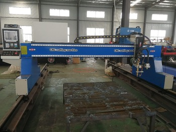 China gantry type CNC plasma cutting machine for aluminum/iron/steel/metal sheets cutting 1