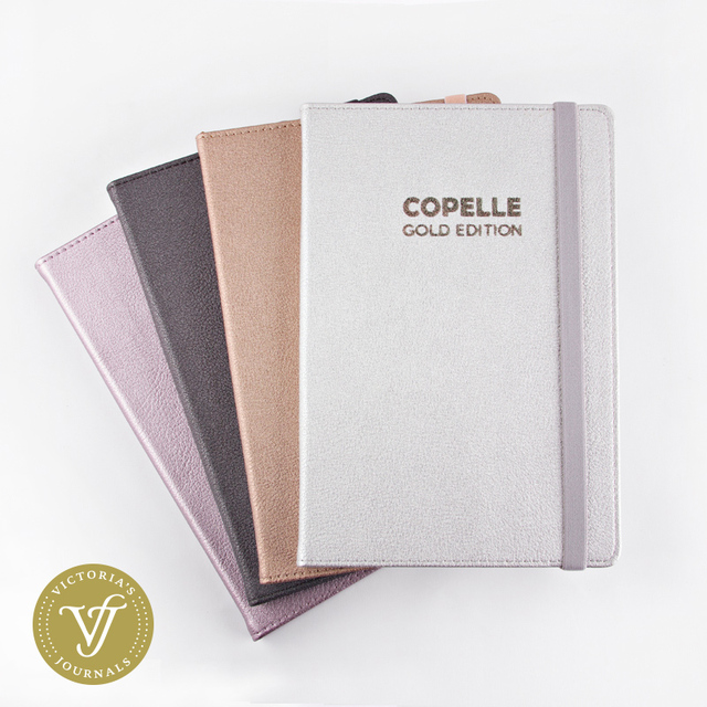COPELLE GOLD EDITION Chấm Bi Hàng Tháng Planner/Máy Tính Xách Tay/Viên Đạn Bao Lưới Dot Tạp Chí/Bujo