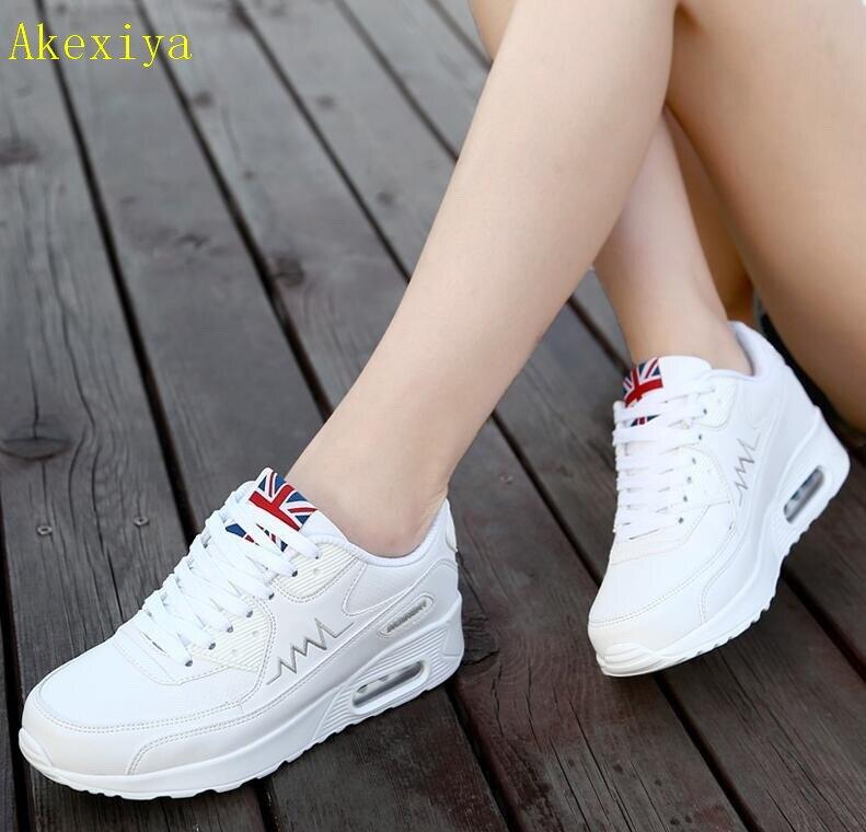 Akexiya Spring Designer Wedges White Platform Sneakers Women Shoes 2019 Tenis Feminino Casual Air Mesh Female Shoes Woman