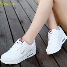 Akexiya Spring Designer Wedges White Platform Sneakers Women Shoes