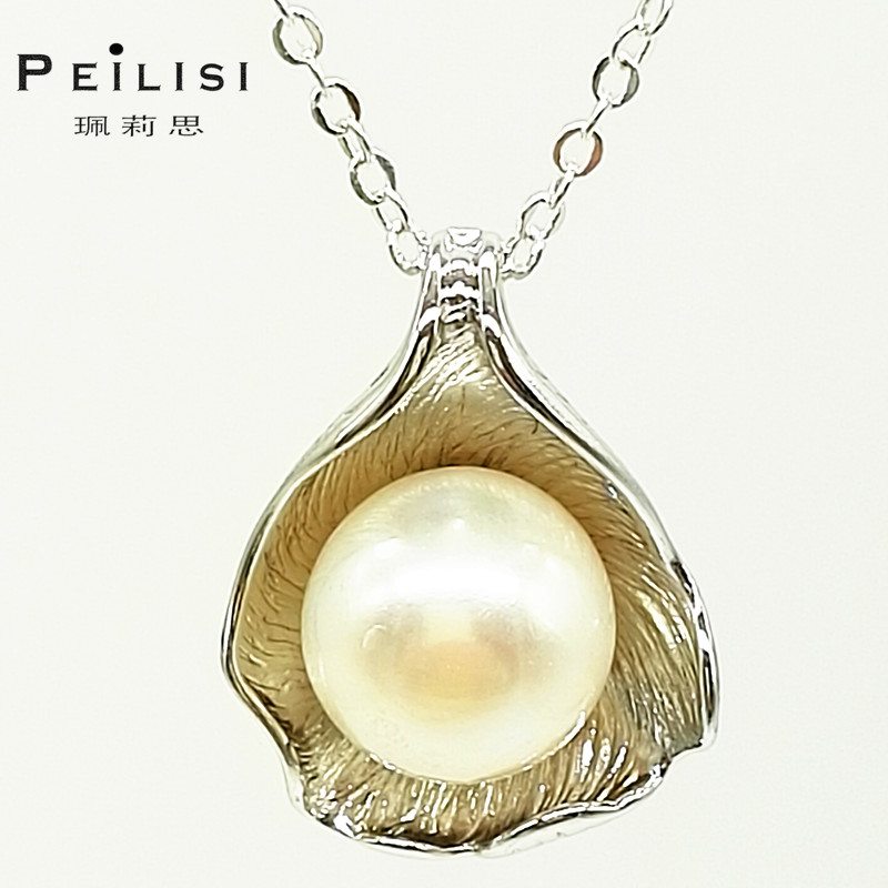 sterling 925 silver real pearl jewelry fashion necklaces for women