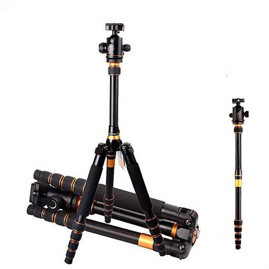 150cm aluminum alloy tripod monopod professional photographic camera tripod with ball head for travel free shipping DHL sirui n2004x aluminum tripod portable flexible camera monopod k20x ball head carrying bag max loading 15kg dhl free shipping