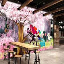 Dream childrens room romantic kids background wall painting professional production wallpaper custom photo