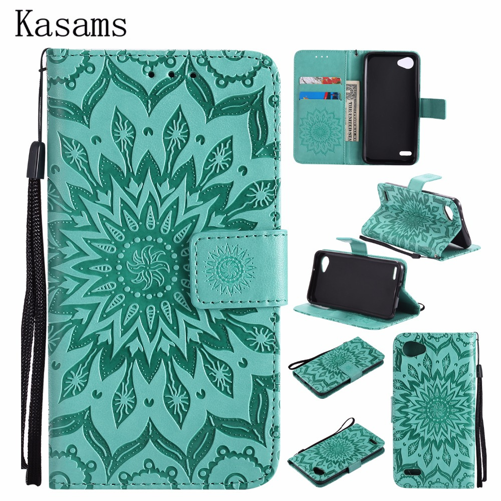 3D Sunflower For LG Q6 Q6+ Plus Phone Shell For LG Q6 alpha Q6a M700 PU Leather Mobile Case Wallet Flip Stand Cover Kazakhstan