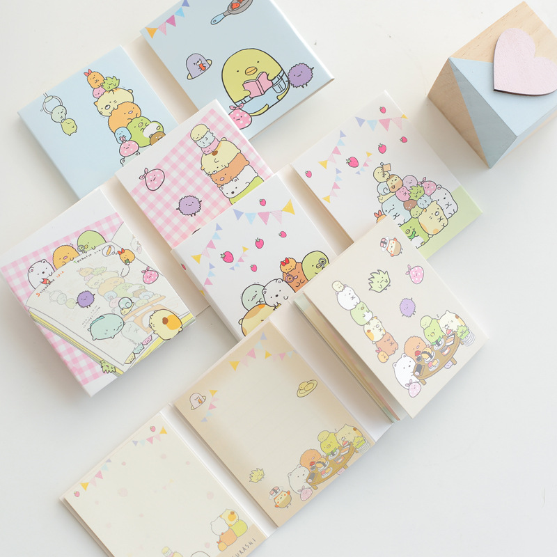 6 sets/1 lot Creative Folding Memo Pad Sticky Notes Escolar Papelaria School Supply Bookmark Post it Label