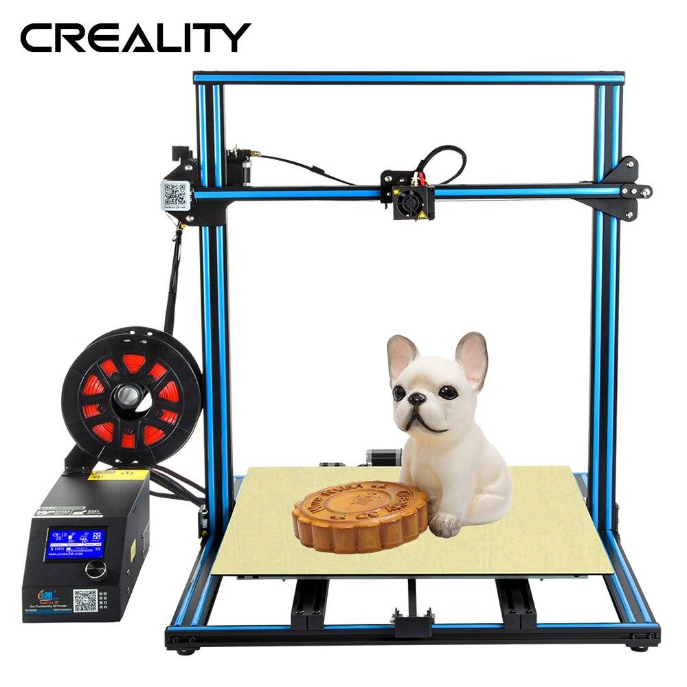 Plus la taille Creality 3D Imprimante CR-10S S4 S5 Ouvrir Build Avec Dua Z Tige Filament Capteur/Détecter Reprendre le Pouvoir off 3D Imprimante DIY Kit