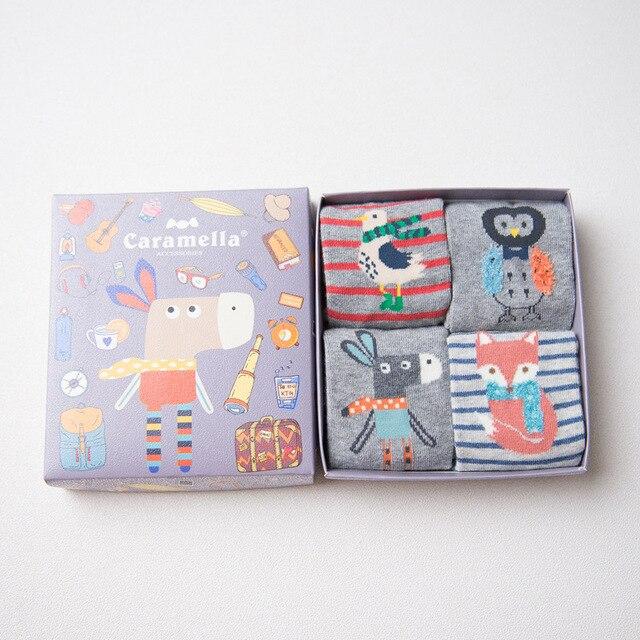 Комплект детских носков 4 пары «Ослик»