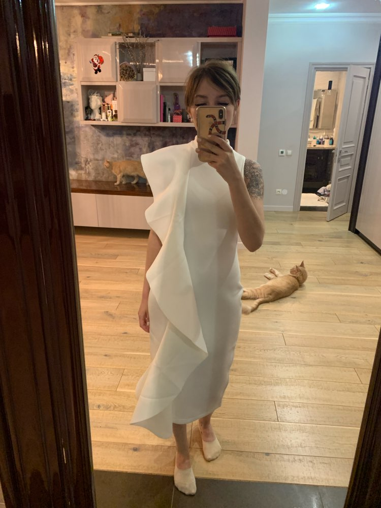 Summer White Women Celebrity Party Dress Sexy Wine Red Sleeveless Patchwork Ruffles Bodycon Club Dresses Vestidos photo review