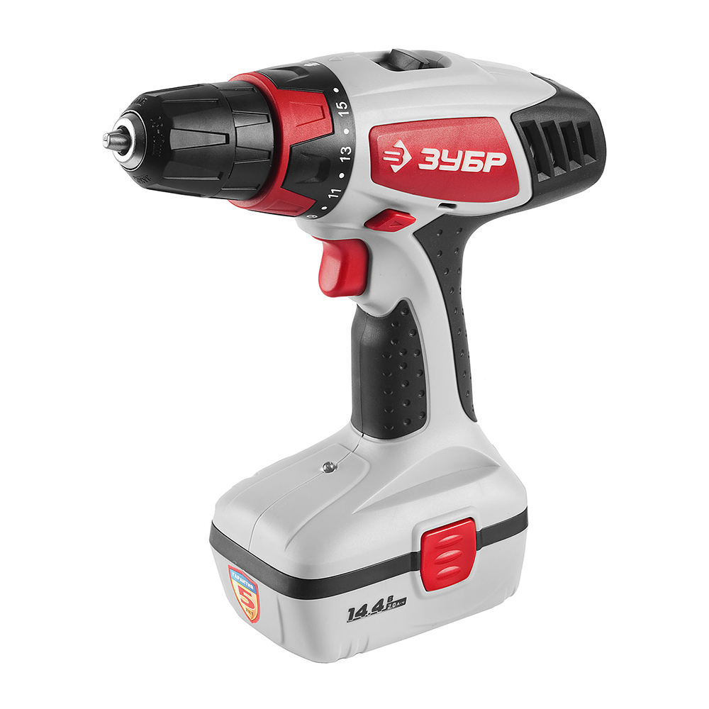 Cordless drill screwdriver ZUBR ZDA-14.4-2 KIN20 wosai 20v lithium battery max torque 380n m 4 0ah brushless electric impact wrench diy cordless drill cordless wrench