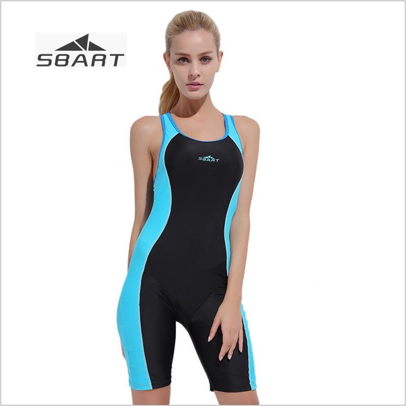 New Sbart Women Boxer Brief Swimwear Slim Female Backless Swimsuit Lycra Anti-UV Sleeveless Swimming Clothes with Bust Pad sbart upf50 rashguard 2 bodyboard 1006