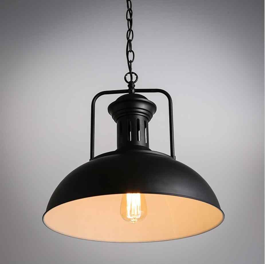 Винтаж освещение промышленных стиль кафе стол для ресторанов баров Лофт, кованое железо крышкой E27 подвесные светильники потолочный светильник
