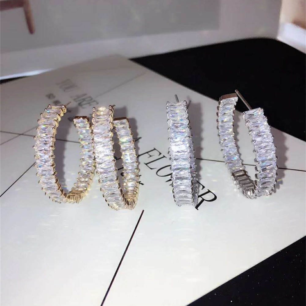 Trendy fashion ear ring for women Korean Fashion Beautiful Earrings Wedding Bridal Party Jewelry Dress Up -in Hoop Earrings from Jewelry & Accessories on Aliexpress.com | Alibaba Group