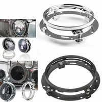 """7 Inch Runde LED Scheinwerfer Montage Halterung Ring Für Auto Jeep Wrangler JK Land rover defender für Harley Motorrad 7 """"halterung"""